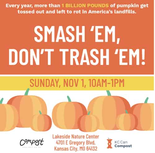 poster calls attention to pumpkin waste